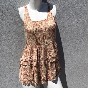 FREE PEOPLE Dressy Ruffle Tank Top